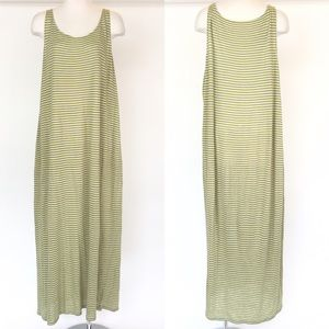 Eileen Fisher size XL yellow stripe tank top dress